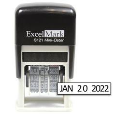 ExcelMark Self-Inking Date Stamp - S121 (Black Ink)