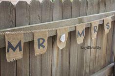 Wedding Photo Prop Banner Burlap