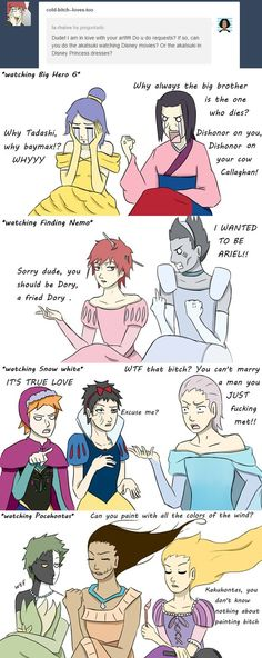 Los akatsukis version princesas