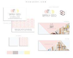 Brand Identity Set  logo monogram business card social by PSWShop