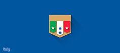 """Projeto Pessoal focado no Flat Design Minimalista, redesign dos Brasões de todas as Seleções participantes da Copa do Mundo 2014 no Brasil.Inspirado no projeto """"Shields Brazilians Team"""" do designer Gustavo Sorte.-----------------------------------Pe…"""