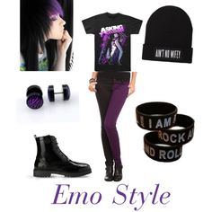 """Emo Style"" by mahomieforlyfe on Polyvore. SHIRT, PANTS, BRACELETS, AND EARINGSSS"