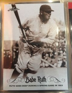 2016 Leaf Babe Ruth 07 New York Yankees Near Mint Condition Combined s H | eBay