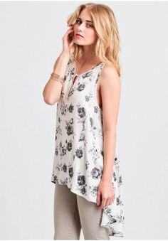 Night Breeze Floral High-Low Top
