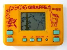 Jogo electrónico Hungry Giraffe CG-91, da Casio, de 1985. Video com som! :)