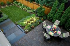 Startling Arborvitaes decorating ideas for  Landscape Traditional design ideas with Startling  backyard bluestone patio
