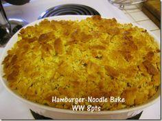 Hamburger Noodle Bake (or make with Ground Turkey) - WW 8pts