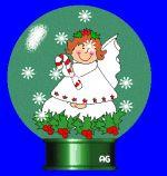 Angelitos de Navidad con animación.