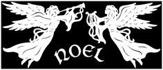 Angel's Noel Papercut Pattern by *swandog on deviantART