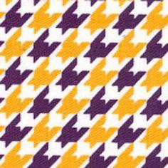 Purple Gold LSU Polka Dot Print Apparel Fabric