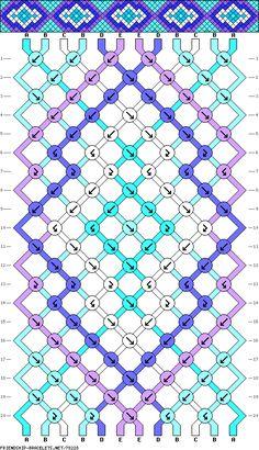 #78228 - friendship-bracelet.net 12 strands, 20 rows, 5 colors