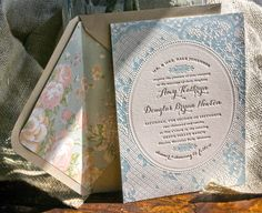 Vintage-Inspired Country Lace Wedding Invitations by Lucky Luxe Couture Correspondence via Oh So Beautiful Paper Tea Party Wedding, Wedding Paper, Wedding Cards, Farm Wedding, Heart Wedding Invitations, Vintage Invitations, Invites, Invitation Ideas, Letterpress Wedding Stationery