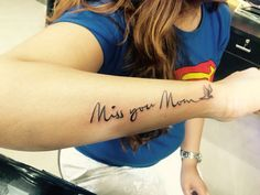 Tattoo for her Mom Done by Akash Chandani. India