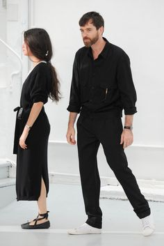 Sarah-Linh-Tran-and-Christophe-Lemaire-at-Lemaire-menswear-SS2015