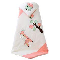 100x100cm Winter Baby Sleeping Bag Warm Swaddle Sleeping Bag Envelope For Newborns Cartoon Soft Fabric Thicker Baby Blanket   #Affiliate