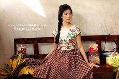 Batik Amarillis  Made in Indonesia ... This is when Indonesia's traditional textile meets Hungarian embroidery...
