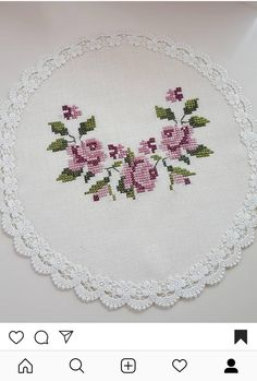 Beaded Cross Stitch, Cross Stitch Flowers, Cross Stitch Charts, Cross Stitch Designs, Cross Stitch Patterns, Saree Painting Designs, Crochet Bedspread, Embroidery Fashion, Small Flowers