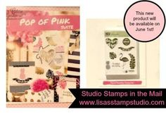 June's Studio Stamps in the Mail will include the new Pop of Paradise stamp set and pre-cut supplies to create 8 cards.  Stampin' Up!, card, paper, craft , paper, scrapbook, craft, rubber stamp, hobby, how to, DIY, handmade, Lisa Curcio, flamingo, pineapple, www.lisasstampstudio.com