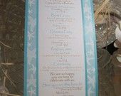 Itinerary Cards in Blue Starfish for Beach Weddings