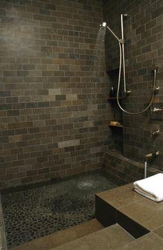 Screen less shower