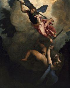 Lorenzo Lotto - Caduta di Lucifero (1545)