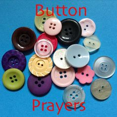 Flame: Creative Children's Ministry: Button Prayers