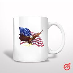 #American #Flag #and #Eagle #Painting #White #Mug #americanflag #whitemug #tea #coffee #Cup #Ceramics #Pottery #Custom #trending #Housewares #Kitchen #design #giftidea #present #woman #man #kids #favorite #lowprice #newhot