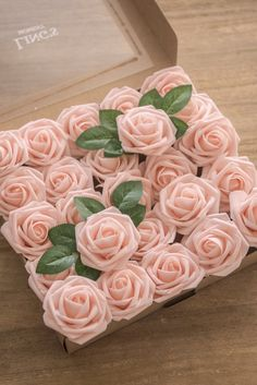 """ABOUT PRODUCT Size: Rose head measures2-3/4 inches in diameter; Wire stemmeasures8"""" long.Material: High-quality foam and Thin pliable wire stemsPackage: 25 roses & 8 rose leaves / 50 roses & 16 rose leavesThe roses are made of a soft high-quality foam which gives them the look of fresh roses. The wire stem"""