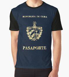 """Cuba Passport Vintage"" Graphic T-Shirts by Lidra   Redbubble"