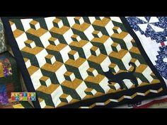 Video tutorial: quick and easy tumbling blocks without Y seams - YouTube