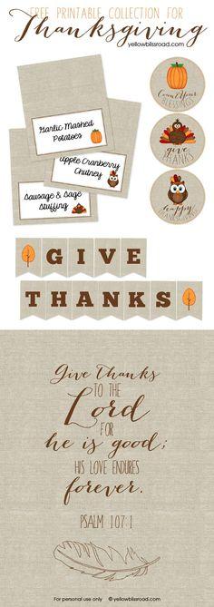 Free Thanksgiving Printables 1
