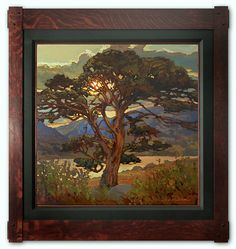 Arts and Crafts painting. End With A Flourish by Jan Schmuckal Oil Painting Arts And Crafts For Adults, Arts And Crafts House, Easy Arts And Crafts, Arts And Crafts Interiors, Arts And Crafts Furniture, Landscape Art, Landscape Paintings, Tree Paintings, Arts And Crafts Storage