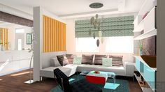 3D plan of Living room by Laura Designs