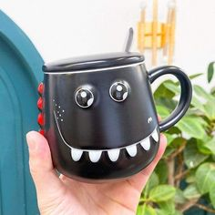 This beautiful Dinosaur Mug will be perfect to drink your coffee early in the morning, very easy to hold and use, it will be perfect for you and your family. #mug #colors #funny #diy #family #drink #ideas #perfect #rarely #beautiful Dinosaur Mug, Dinosaur Games, Dinosaur Funny, Cute Cartoon, Cool Kitchens, Kitchen Dining, Coffee Cups, Ceramics, Mugs