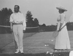 "Tsar Nicholas II of Russia and Anya Alexandrovna Vyrubova at tennis in the summer of ""AL"" Tsar Nicolas, Tsar Nicholas Ii, Empire, Imperial Russia, Kindred Spirits, Rowing, Beautiful Family, Titanic, Anastasia"