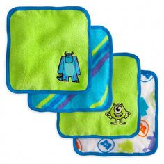 Monsters, Inc. Washcloth Set for Baby; must get this for baby boy!!