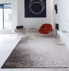 Designed by Esti Barnes Top Floor Rugs - Contemporary hand-made rugs and wood flooring Interior Rugs, Living Room Interior, Interior Design, Carpet Design, Floor Design, Contemporary Rugs, Modern Rugs, Dyi, Rug Inspiration