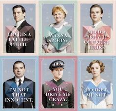 Free printable Downton Abbey Valentines from Cobalt & Dash. Got a fave?