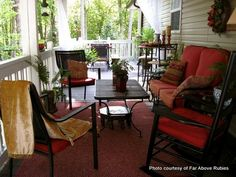 Lovely outdoor room ideas at Anita's home