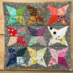 Done!  8.5 by 8.5. Lil #foundationpaperpieced #miniquilt