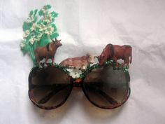 Holy Cow Decorated Brown Cow Fantasy Sunglasses by blitzknitz, $20.00 #rt #spinoff