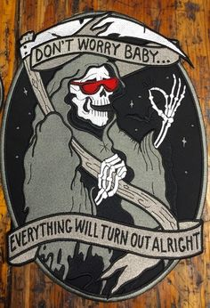 Don't Worry Baby BACK PATCH  Maybe doing a nonband back patch? Or would that be weird?