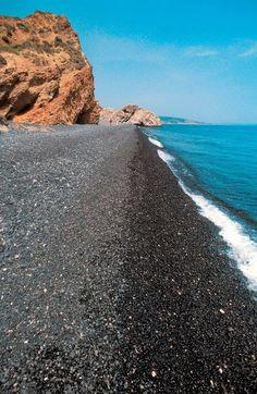 Βlack Pebbles (Mavra Volia) beach, Chios island ~ Greece