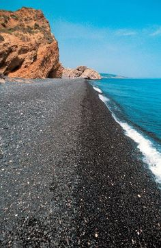 Βlack Pebbles (Mavra Volia) beach, Chios island ~ Greece