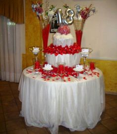 Addobbo tavolo torta con palloncini e fiori artificiali addobbi 18 pinterest - Addobbi tavoli per 18 anni ...