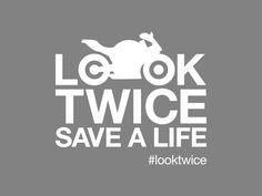LOOK TWICE SAVE A LIFE VINYL STICKER - SPORT EDITION