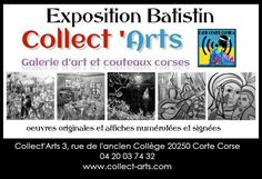 galerie d'art: Exposition Batistin Galerie Collect'Arts Corse