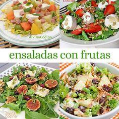 Estas ensaladas con frutas son muy fáciles de hacer, además de sanas y completas. Seguro que encuentras la tuya!!