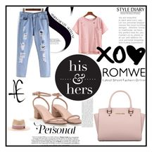 """Romwe #4/1"" by almaa-26 ❤ liked on Polyvore featuring Michael Kors, Maison Michel and romwe"