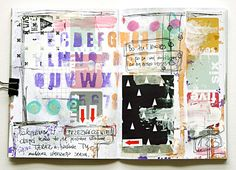 Art Journaling in feedly like the grid look